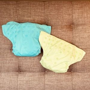 2 BumGenius All-in-One Snap Reusable Diapers
